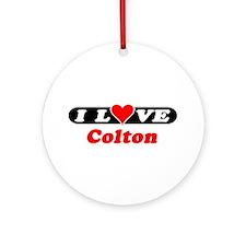 I Love Colton Ornament (Round)