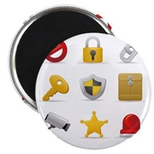 Security and safety icon set Magnet
