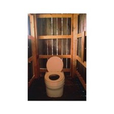 Composting toilet Rectangle Magnet