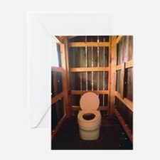 Composting toilet Greeting Card