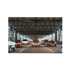 Traffic on Bay Bridge Rectangle Magnet