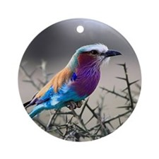 Lilac-Breasted Roller Round Ornament
