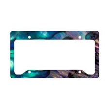 Abalone Shell enamel patterns License Plate Holder