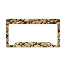 Display of corks at a restaur License Plate Holder
