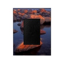 Evening light on rocks at Green Poin Picture Frame