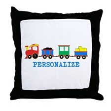 Personalized Kids Choo Choo Train Throw Pillow