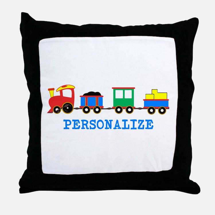 Personalized Kids Choo Choo Train Throw Pillow