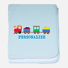 Personalized Kids Choo Choo Train baby blanket