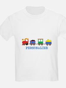 Personalized Kids Choo Choo Train T-Shirt