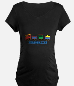 Personalized Kids Choo Choo Train Maternity T-Shir