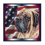 Mastiff Dog Flag Tile Coaster