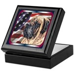 Mastiff Dog Patriotic Flag Keepsake Box