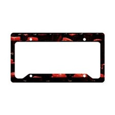 Candles in church License Plate Holder