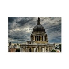 St Pauls Cathedral in London Rectangle Magnet