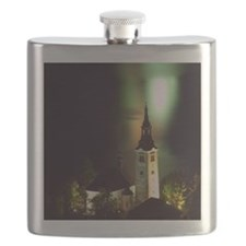 Pilgrimage Church on Lake Bled Flask