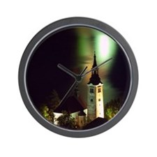 Pilgrimage Church on Lake Bled Wall Clock