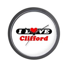 I Love Clifford Wall Clock