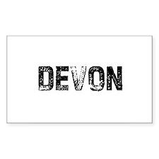 Devon Rectangle Decal