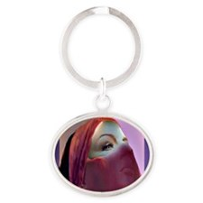 Transformation behind The Mask Oval Keychain