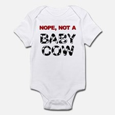 Great Dane Not a Baby Cow Infant Bodysuit