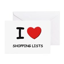 I love shopping lists  Greeting Cards (Package of