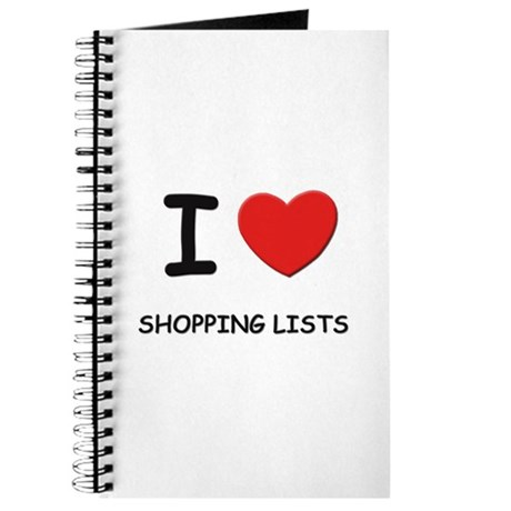 I love shopping lists Journal