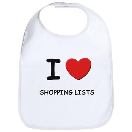 I love shopping lists Bib