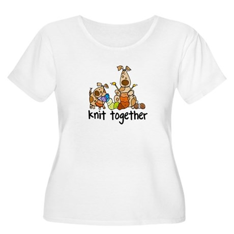 Knit together II Women's Plus Size Scoop Neck T-Sh