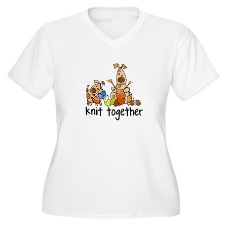 Knit together II Women's Plus Size V-Neck T-Shirt