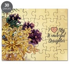I Love My Wonderful Daughter - holiday them Puzzle
