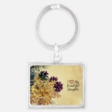 I Love My Wonderful Daughter -  Landscape Keychain