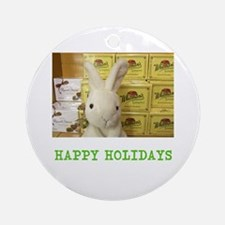HAPPY HOLIDAYS RUSSELL/ WHITMAN RABBIT. Ornament (