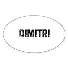 Dimitri Oval Decal