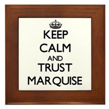 Keep Calm and TRUST Marquise Framed Tile