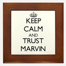 Keep Calm and TRUST Marvin Framed Tile