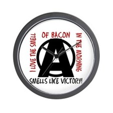I love the smell of bacon in the... Wall Clock