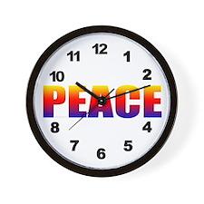 Rainbow Peace Wall Clock