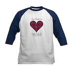 Heart-MacCulloch.MacCullough Kids Baseball Jersey