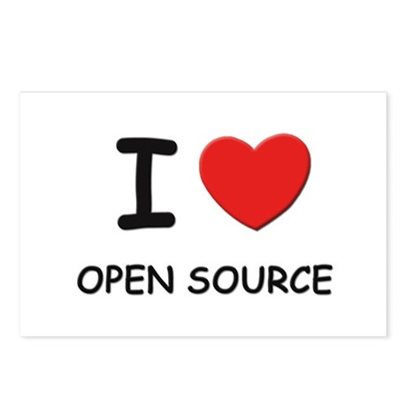 I love open source Postcards (Package of 8)