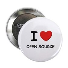 I love open source Button