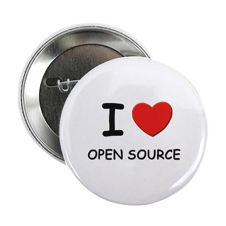 I love open source Button