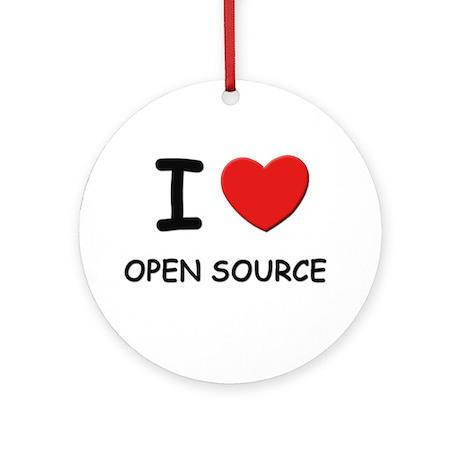 I love open source Ornament (Round)