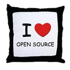I love open source  Throw Pillow