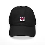 Heart-MacCulloch.MacCullough Black Cap with Patch