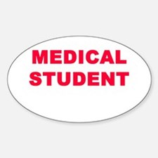 MEDICAL STUDENT Oval Decal