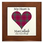 Heart-MacCulloch.MacCullough Framed Tile