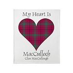 Heart-MacCulloch.MacCullough Throw Blanket