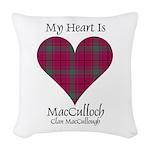 Heart-MacCulloch.MacCullough Woven Throw Pillow