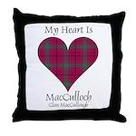 Heart-MacCulloch.MacCullough Throw Pillow