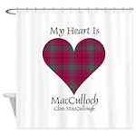 Heart-MacCulloch.MacCullough Shower Curtain